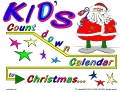Kid's Countdown Calendar to Christmas -- inside (large tree and packages)